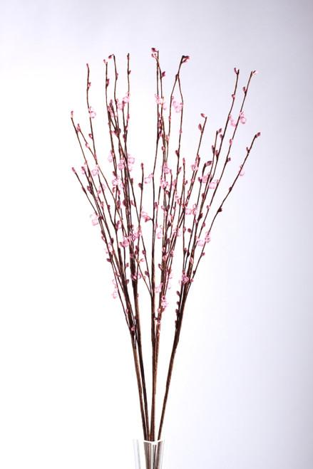 "Acrylic Beaded Floral Spray 35"" Light Pink - 5 Pc Set"