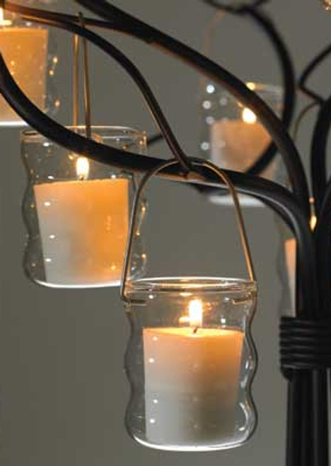 """Glow"" Curvy Tealight Hanger - 2.2"" x 3"""