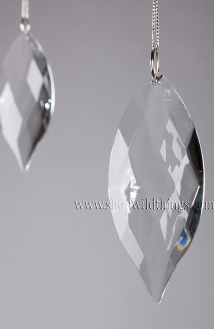 "Acrylic Pendant 4""  Long -  ""Duchess"" Set of 6 for Wedding Trees and Chandeliers"