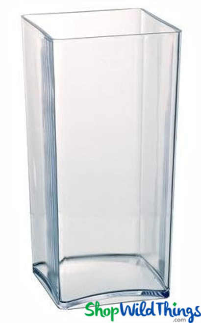 Vase - Acrylic Square / Rectangle Clear 4in x 4in x 10in
