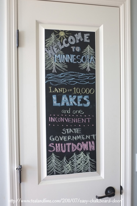 "Chalkboard w/Chalk -  Large Self-Adhesive Panel - 17"" x 78"""