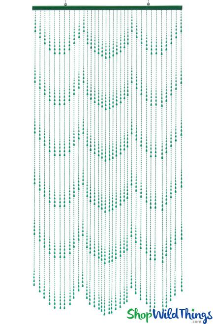 Green Raindrops Waterfall Pattern Acrylic Beaded Curtains Door Beads ShopWildThings.com