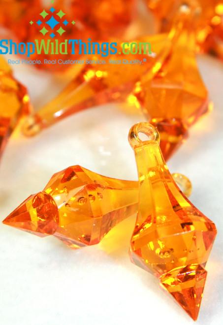 """Bijou"" Crystal Acrylic Pendants - Orange - Bag of 130pcs"