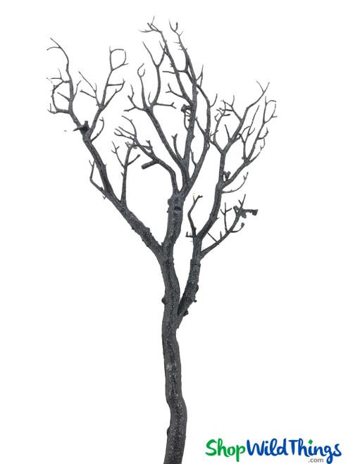 "Manzanita Glitter Tree Branch - Black - 28"" Long"