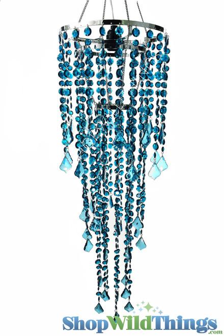 Chandelier - Diamante Duo Delight - Deep Ocean Blue