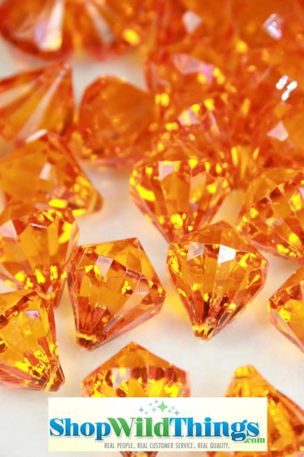 """Bryn""  Crystal Acrylic Pendants - Orange - Bag of 100 pcs"