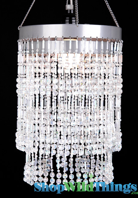 "Chandelier  ""Ashley""  2-Tier Hanging Lamp, Crystal 8 1/2"" x 12"""