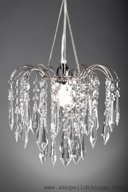 """Chandelier """" Bejeweled """" Clear Crystal"""