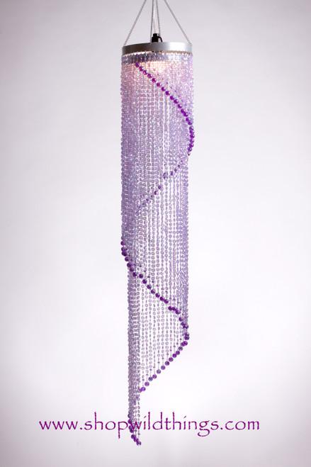Chandelier Chelsea Swirl Crystals- Purple Iridescent - 4 ft