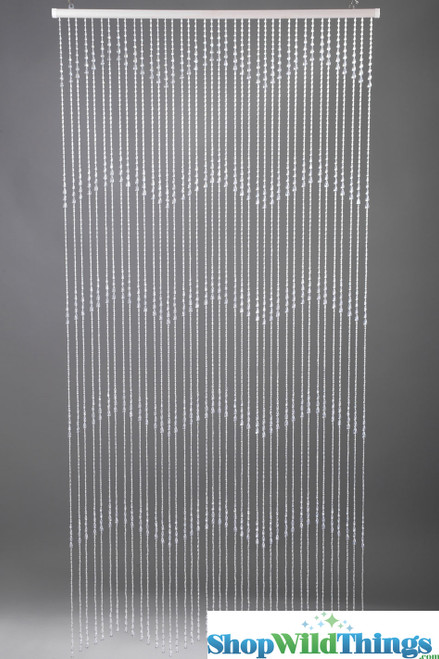 Teardrops Beaded Curtains - Clear Non-Iridescent - 3 ft x 6 ft