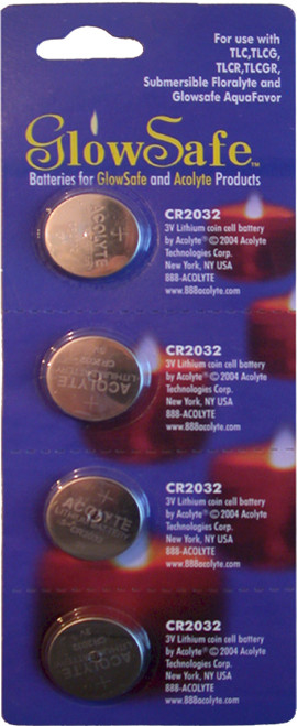 Acolyte CR2032 3V Lithium Coin Batteries, 4 Pack