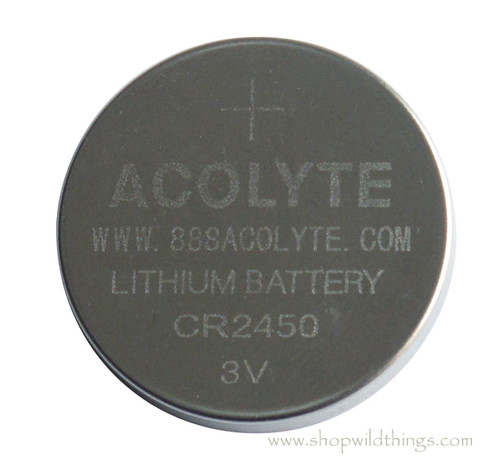 Acolyte CR2450 3V Lithium Coin Batteries, 4 Pack - For SUMIX