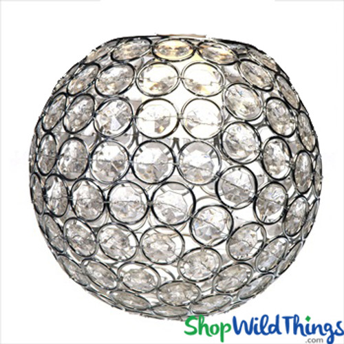 """Chandelier, Table Decor, Lamp or Vase Topper """"Tatiana"""" - Crystal Beaded Sphere 6 1/2"""" - BUY MORE, SAVE MORE!"""