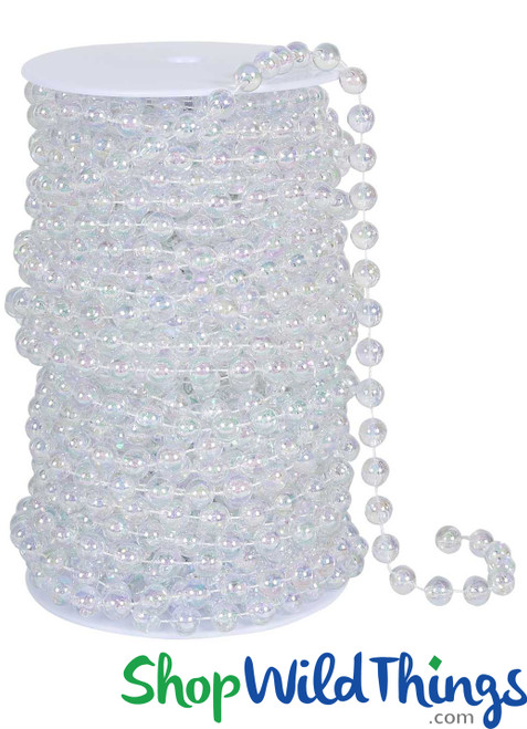 Roll of Beads 33 Yards (99 ft) - 6MM Iridescent Ballchain