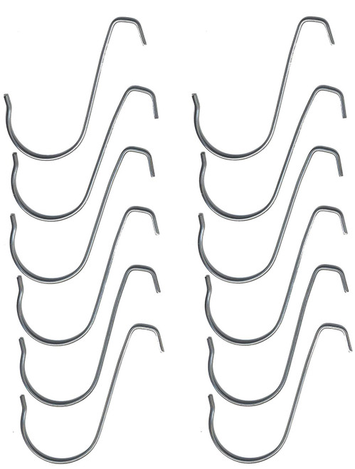 Hanging Hooks for Beaded Curtains & More - 12pcs- Pipe & Drape Compatible