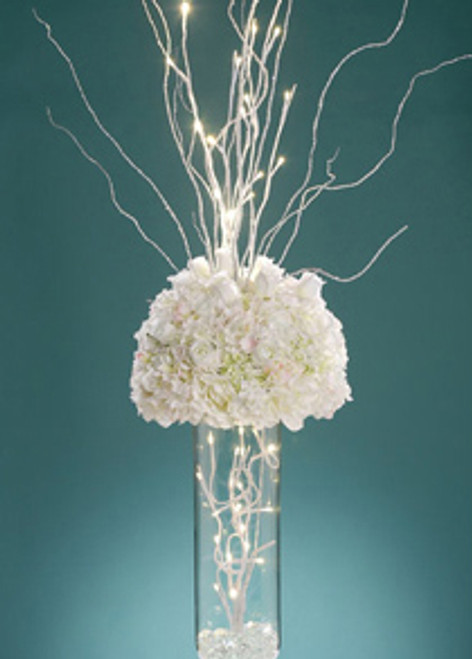 """David Tutera LED Lighted Branch - White 31.5"""" - Battery Operated"""