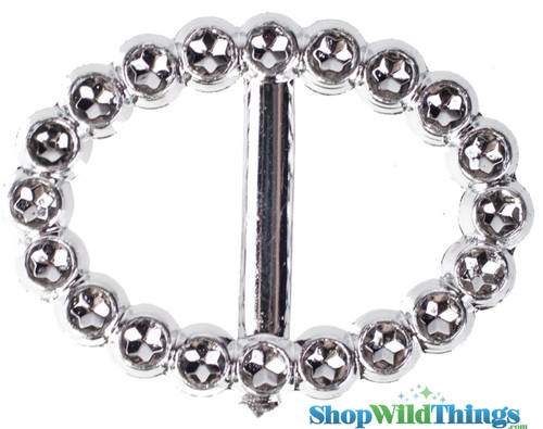 "Oval Buckle 1"" - Set of 10 Sparkling ""Diamond"" Buckles"