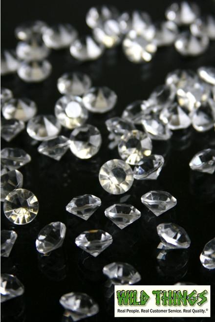 Diamond Confetti - 400 pcs - 6 Carats (12mm) - Clear Acrylic Diamonds