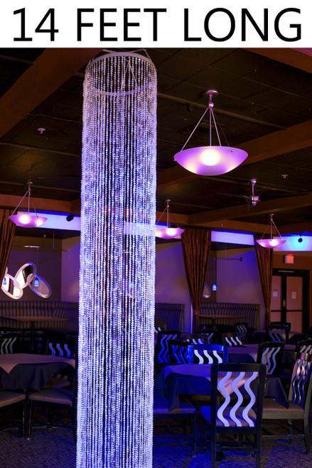 Diamonds Crystal Sparkling Iridescent Column 14 ft - Round - PREMIUM QUALITY BEADS!