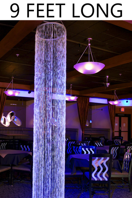 Diamonds Crystal Sparkling Iridescent Column 9 ft - Round - PREMIUM QUALITY BEADS!