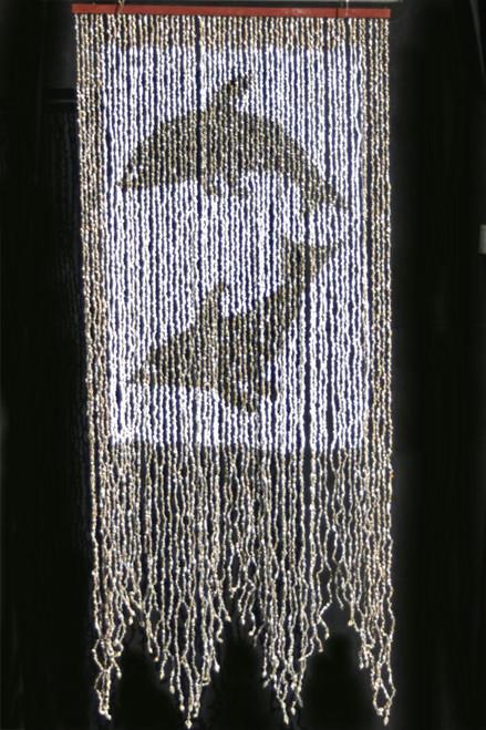 Nassa Shells Beaded Curtain - Dancing Dolphins