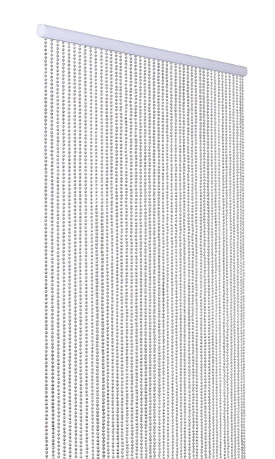 Ballchain Faux Metal Beaded Curtains - Silver 6MM - 3 ft x 6 ft