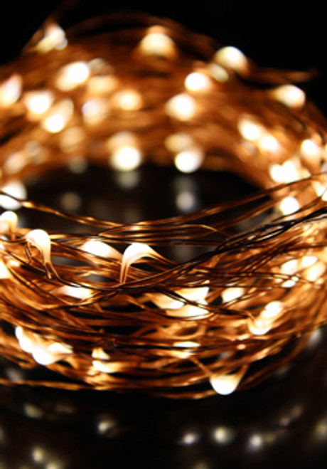 DazzLED Fairy String - 100 Warm White LEDs - 32' Copper Wire - Plug-In