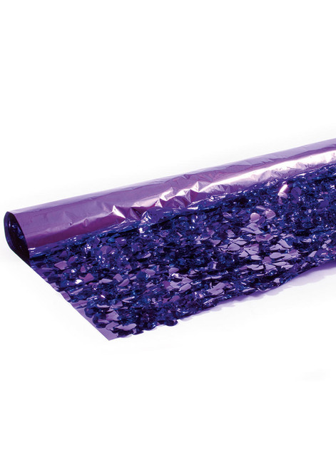 Floral Fabric Sheeting IFR - Metallic Purple -  3 ft x 30 ft Roll