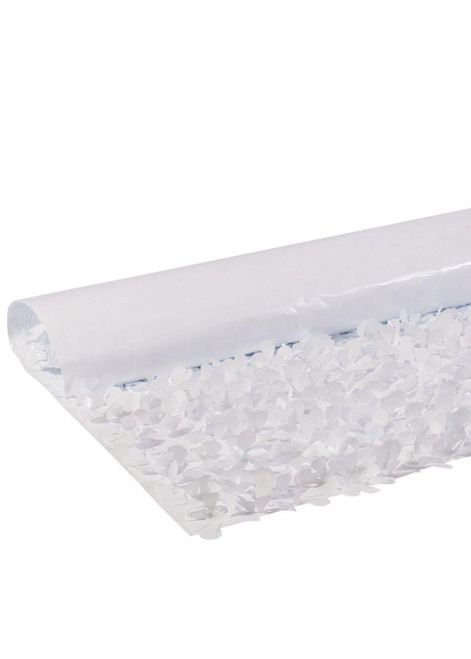 Floral Fabric Sheeting IFR - White - 3 ft x 30 ft Roll