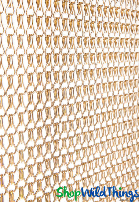 Aluminum Chain Beaded Curtains, Metal Chain Link Room Dividers & Wall Coverings by ShopWildThings.com