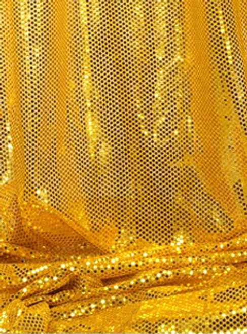 """""""Ritzy Round"""" Spangles - Gold - Fabric 44"""" x 5 yards"""