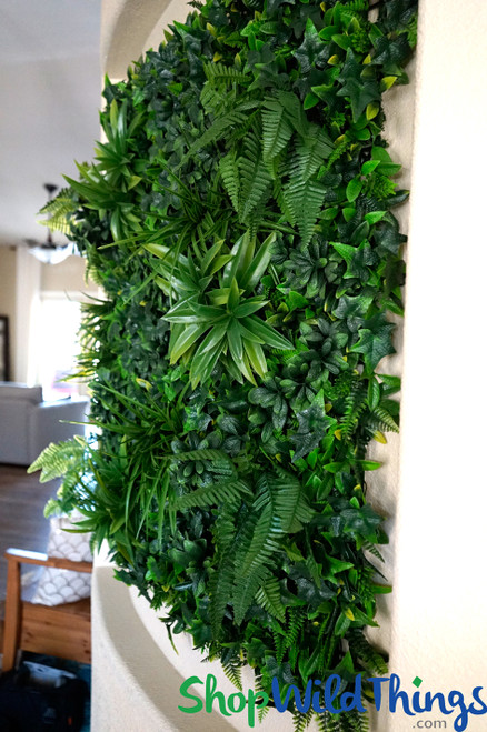 """Assorted Foliage Vertical Landscape Wall Mat - 40"""" Square (Indoor/Outdoor UV)"""