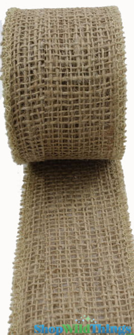 """SALE ! Jute Natural Fabric Roll Natural 1.5""""x10yd -  High Quality Open Weave"""
