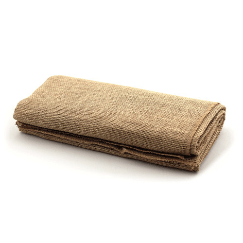 """1 LOT AVAILABLE! CLEARANCE Jute Natural Table Topper 54"""" x 108""""  Rectangle - 50Pcs"""