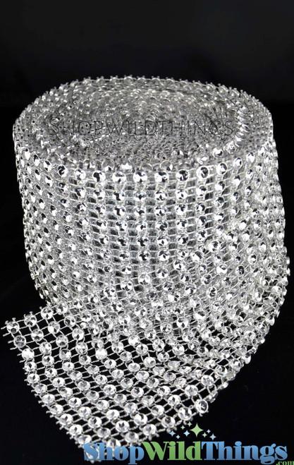 "Diamond Wrap Roll, Silver, Extra Large Diamonds 4"" Wide x 30' Long"