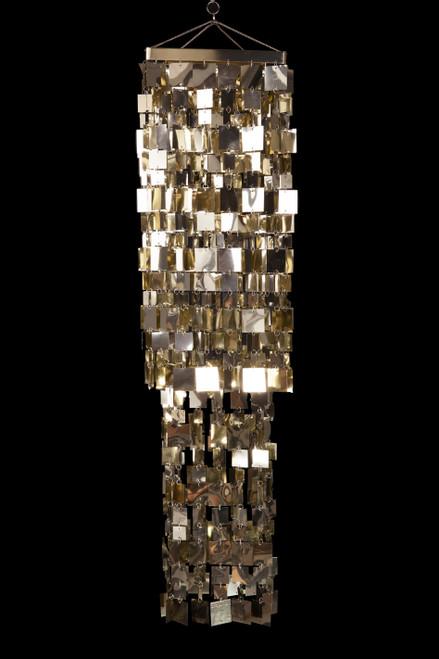Chandelier Fabulous Square - Light Gold - 4 ft Long