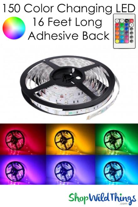 COMING SOON! LED 150 Flexible Light Strip w/Adhesive Back - Plug-In, Remote - RGB 16 Feet Long