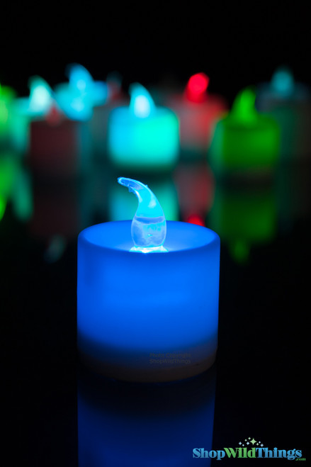 Battery Operated Color Changing Candles - Votives - 12 Per Set