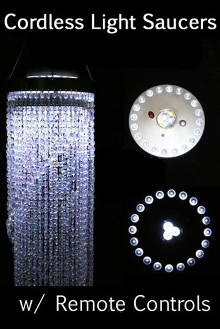 LED Light Saucer - PURE WHITE -  23 LED's, Cordless with Remote Control