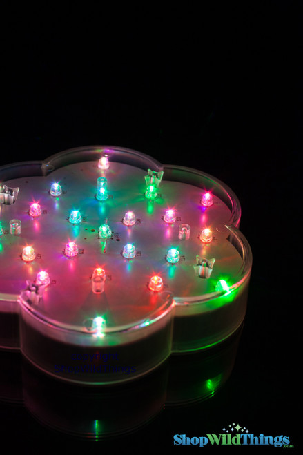 """Vase Light Base - LED Color Changing - 6"""" Diameter"""