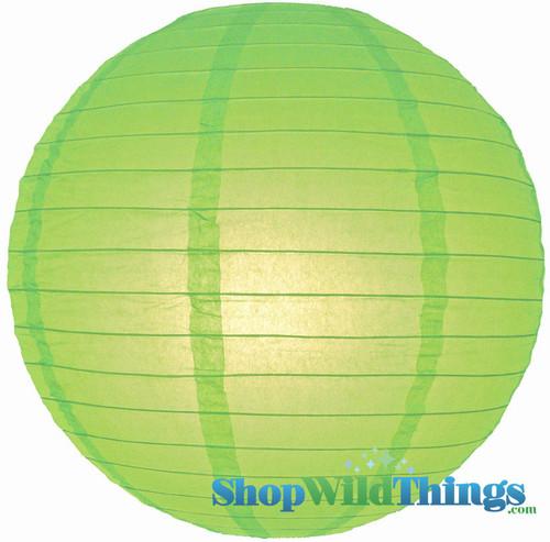 "Round Paper Lantern 16"" Lime"
