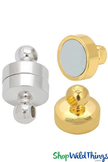 20 pcs Hanging Magnets For Pendants, Garlands & Strands - Gold OR Silver