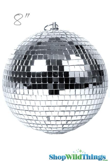 """8"""" Mirror Disco Ball w/ Swivel Top"""