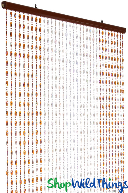 COMING SOON! Ice Pop Beaded Curtain - Browns Iridescent - 3 ft x 6 ft