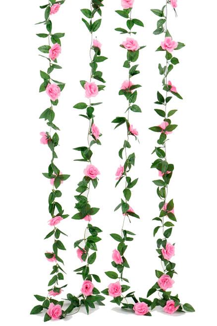 Flower Garland - Silk Rose - 8' - Pink - BUY MORE, SAVE MORE!