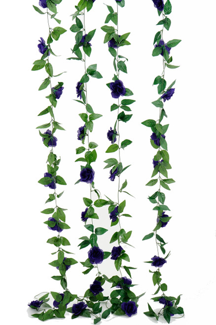Flower Garland - Silk Rose - 8' - Purple - BUY MORE, SAVE MORE!