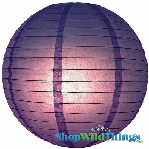 """Round Paper Lantern 16"""" Purple"""