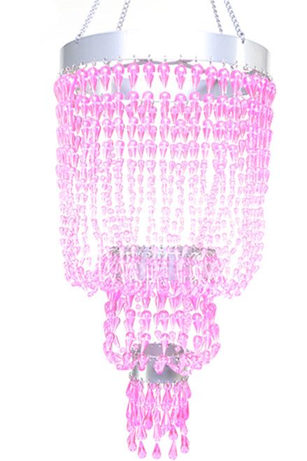 Chandelier Raindrops - Pink Non-Iridescent