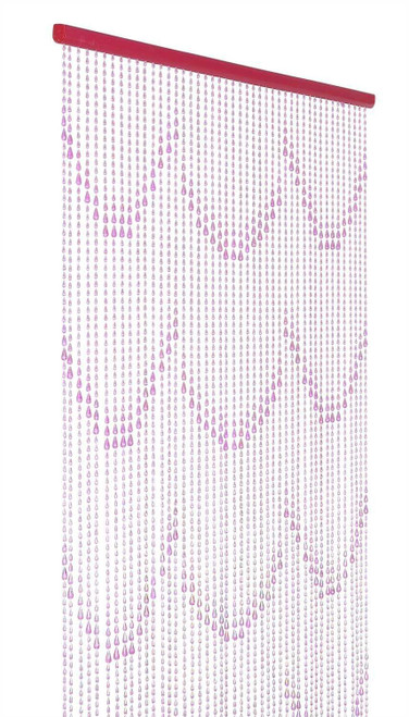 Pink Raindrops Beaded Curtain | ShopWildThings.com