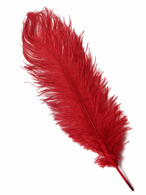 """BOGO Red Ostrich Feathers - 22"""" - 32"""""""